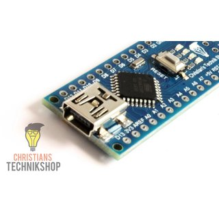 Nano V3 | developer board for Arduino IDE | ATMEL ATmega328P AVR Microcontroller | CH340-Chip | Christians Technikshop