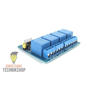 4-Channel 5V Relais/Relay Module with opto-coupler | 10A - 250VAC