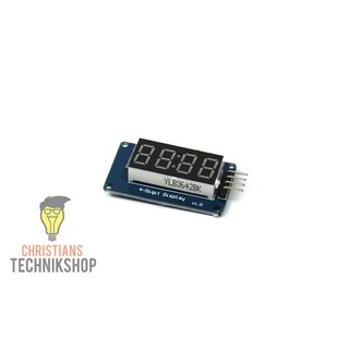 TM1637 LED Timer Display | 7-Segment-Anzeige in rot | 4 bit