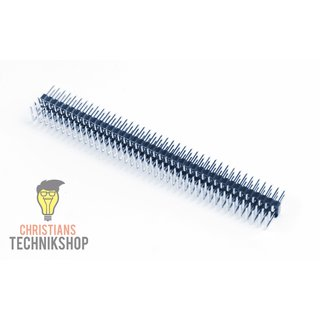 pin strip 90° angled pitch 2.54  mm 3x40 Pins 3 rows