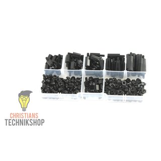M3 Nylon Kit | 180er Set with screws, spacers, nuts