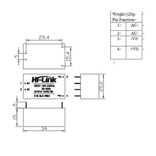 HLK-PM01 Current Supply Modulel | Mini switching power supply | 220VAC to 5VDC