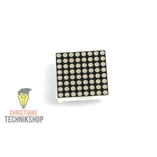 8x8 Highlight Rote LED Matrix | 64 rote 5mm LEDs im Quadrat
