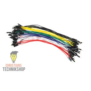 10 single Jumper Wire | 20 cm Cabel | male on male | many colours selectable