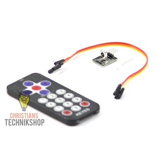 Infrared-IR-Wireless Remote-Control-Set for Arduino incl. CR2025-button cell