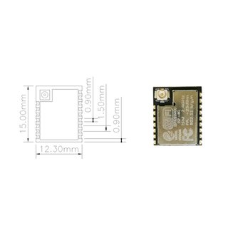 ESP-M1 Wireless WiFi Module ESP8285 | Serial Communication | Low Power System on Chip