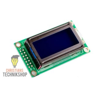 Blue LCD0802 5V Character Display Modul | blaues LCD Display mit 8x2 Zeichen