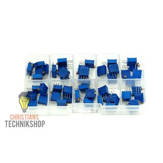 3296W Trimmer Potentiometer Set 50 pieces 500 Ohm to 1MOhm