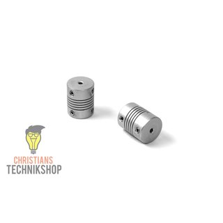 Shaft Coupling 20 mm 2,5 NM - drill holes selectable | z.B 3D Printer, stepper motors,etc