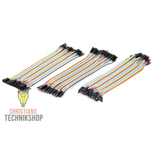 Jumper Wire 2.54 mm 3-time Set Cable-Plug-In-Bridges for Breadboard