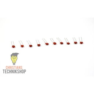 10 pieces ceramic capacitors - Voltage 50V - Capacity (1pF-100nF) selectable
